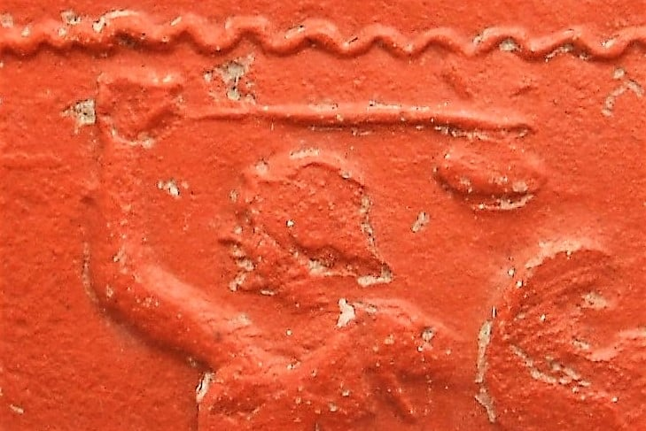 Romans Resources Samian ware gladiator close-up detail enhanced