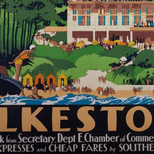 Seaside Holidays Resources Folkestone poster