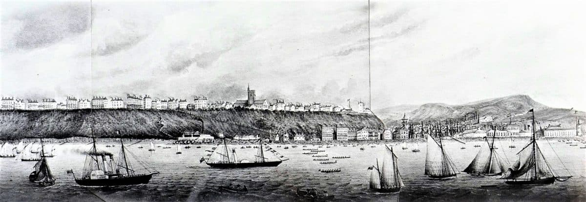 Seaside Holidays Resources Panorama - Folkestone Regatta before 1869 H1 F6118 (2) - Copy