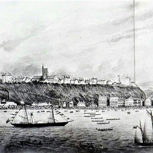 Seaside Holidays Resources Panorama - Folkestone Regatta before 1869 H1 F6118 (2) - Copy
