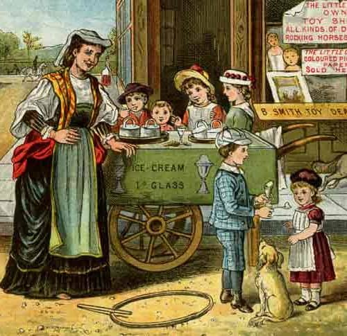 Seaside Holidays Resources Victorian ice cream seller