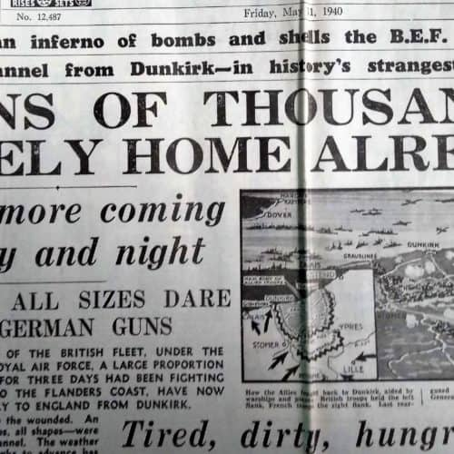 WW2 Resources Dunkirk - Daily Express close-up