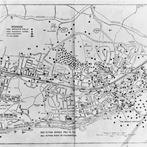 WW2 Resources WW2 bomb map of Folkestone